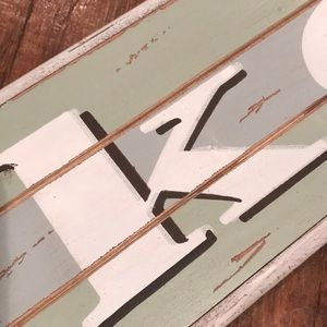 Wall Art - LAKE wooden sign